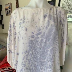 Fifteen Twenty Short sleeve silk pain splatter top